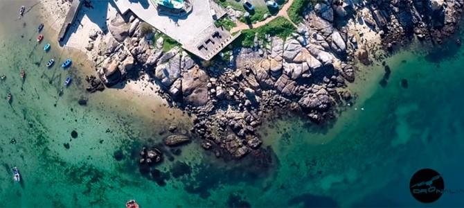 Punta Moreiras (O Grove) a vista de dron
