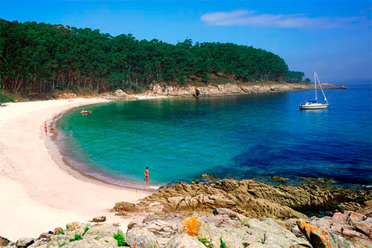 Playa de Figueiras o de los alemanes. Illas Cíes (Pontevedra).